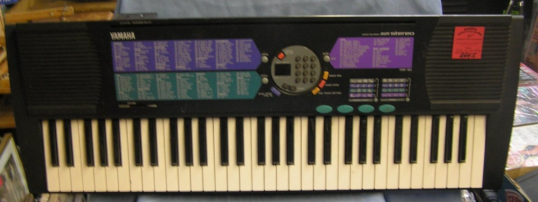 Yamaha advanced wave memory stereo electronic keyboard