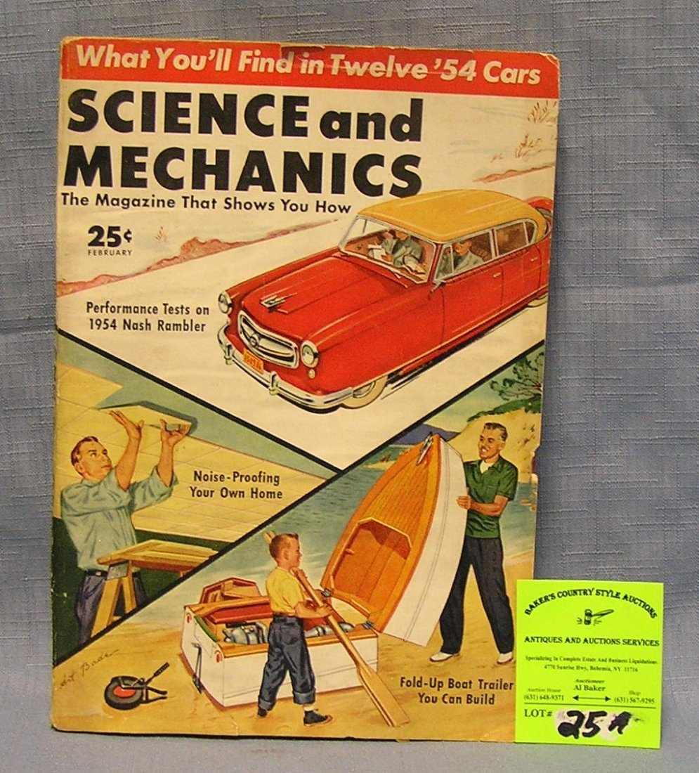Vintage Science and Mechanics magazine dated 1954