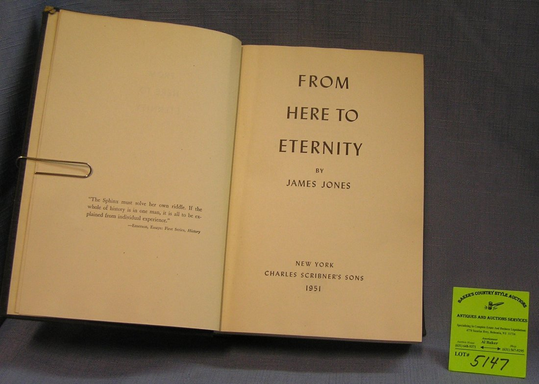 From Here to Eternity vintage book by James Jones first