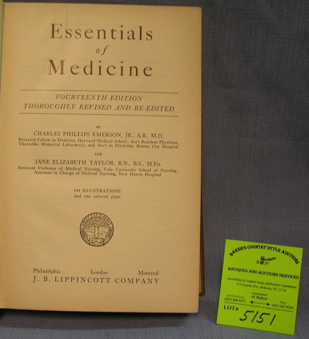 Essentials of medicine by Emerson and Taylor