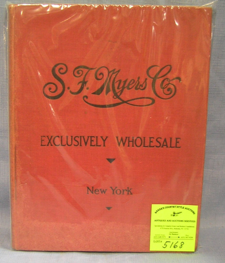 SF Myers and company jewelry wholesaler's hard cover