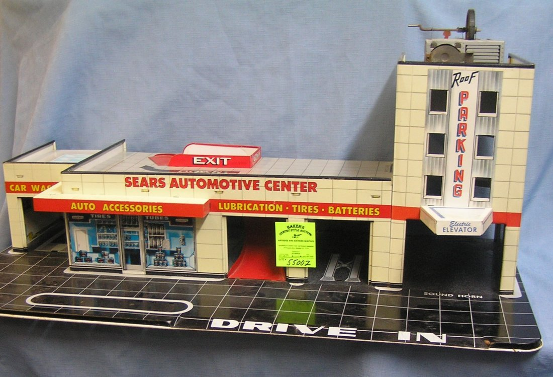 Sears automotive center all tin automotive themed play