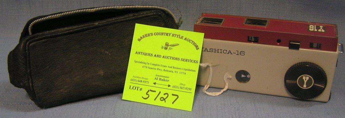 Early Yashika  miniature camera and leather case