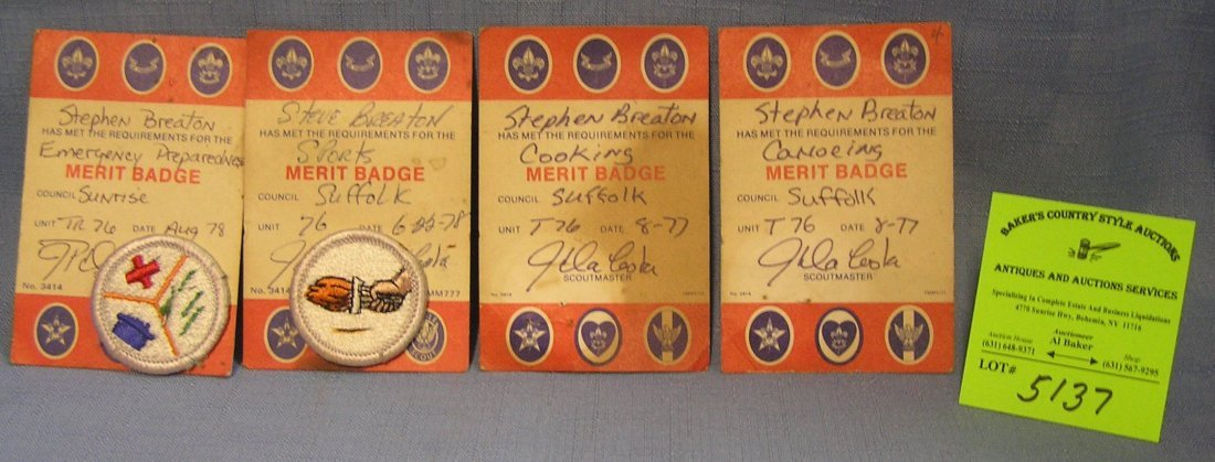 Group of Boy Scout collectibles