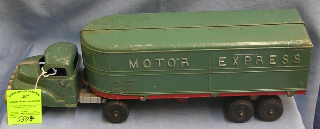 Hubley Motor Express delivery truck all cast metal in