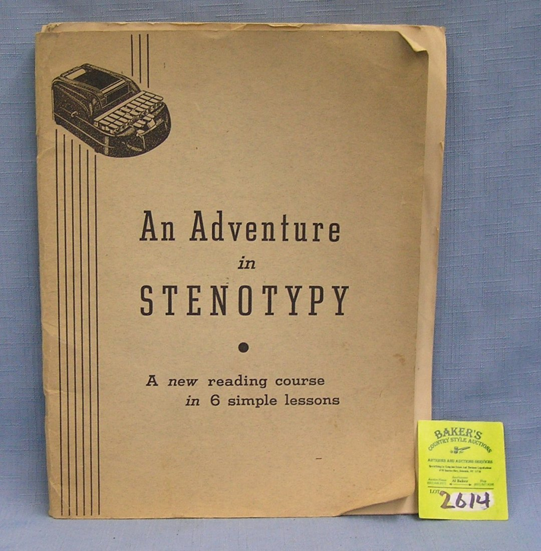 Vintage booklet:  An Adventure In Steno Type