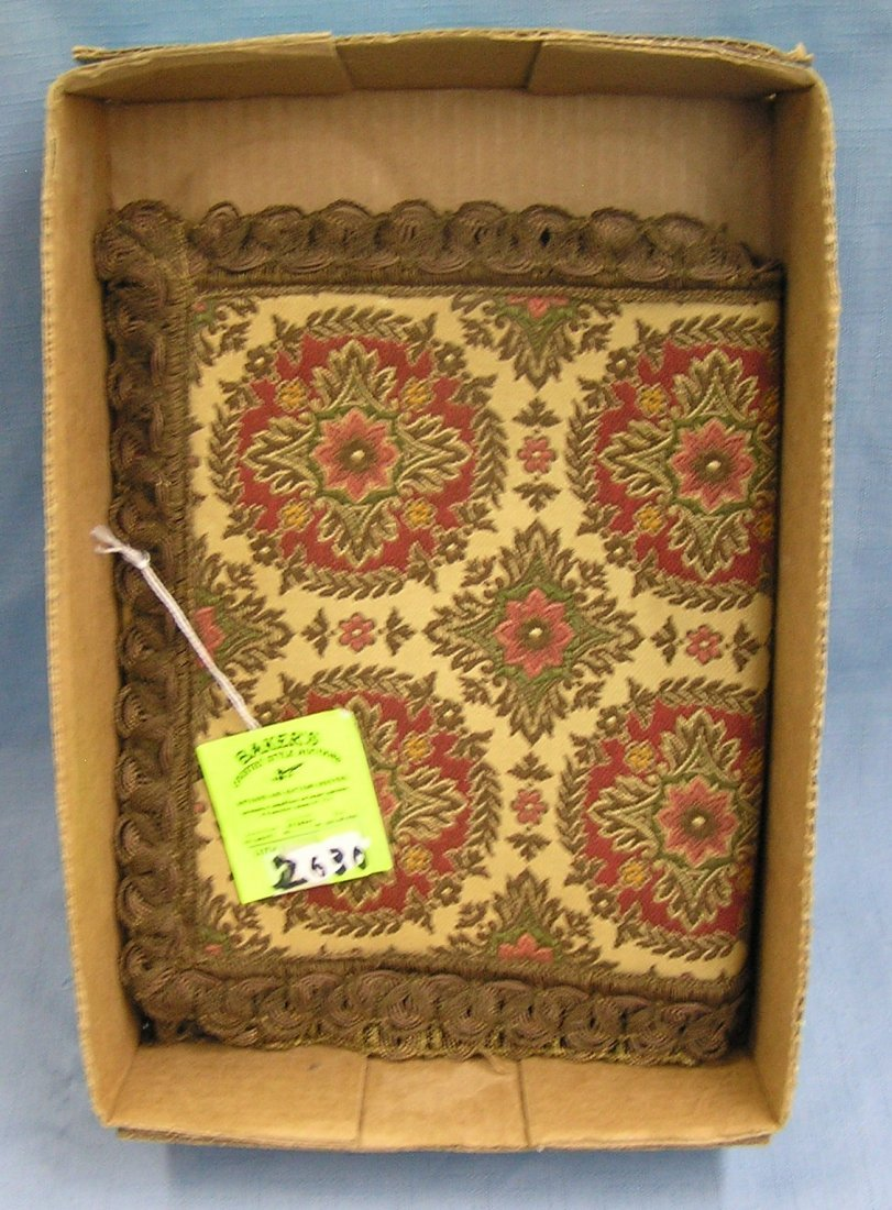 Antique hand stitched table runner