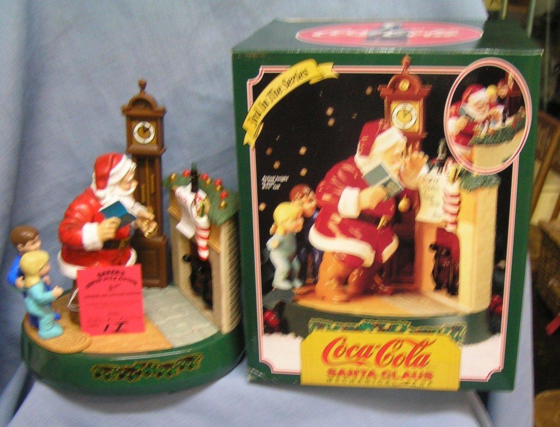 Vintage Coca Cola mechanical Santa Claus bank