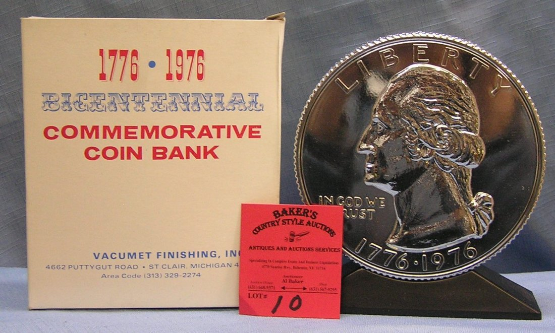 Vintage cast metal Washington coin bank