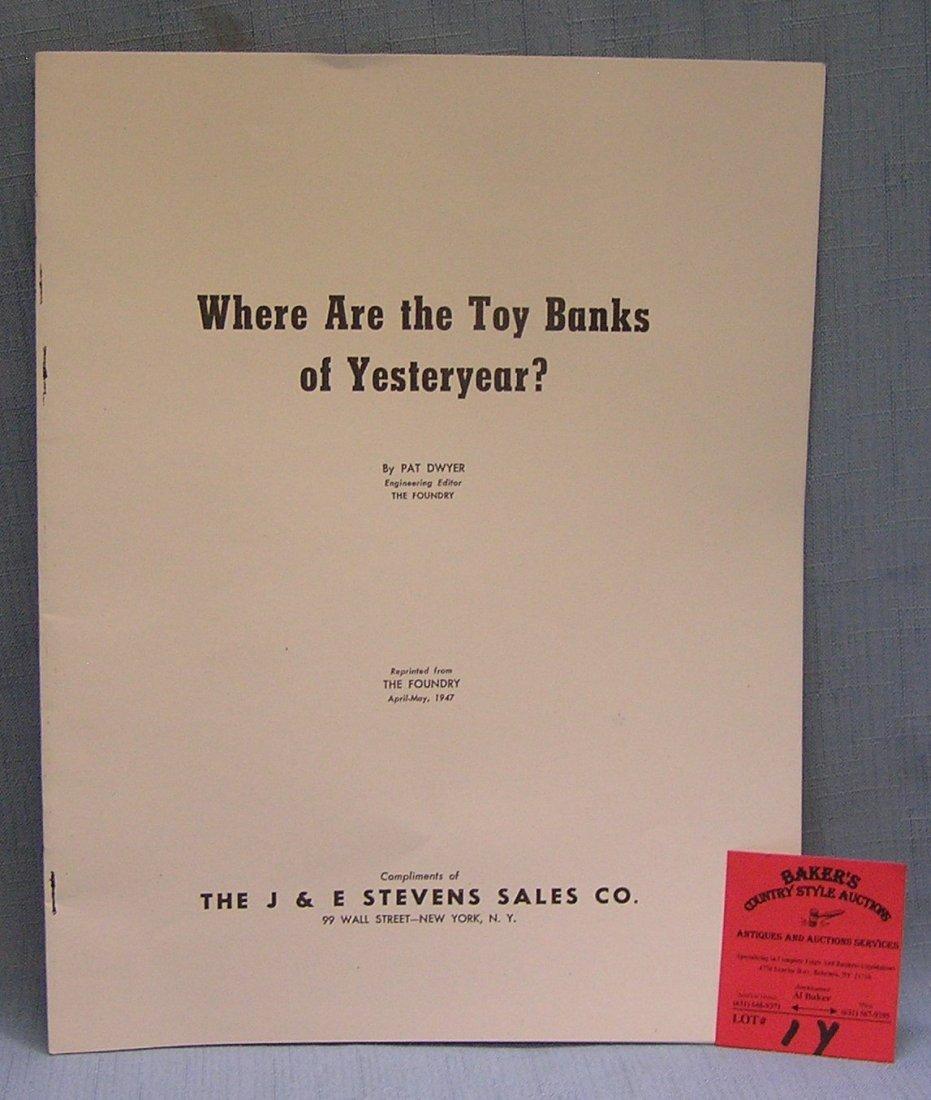 Vintage J & E Stevens sales company mechanical bank