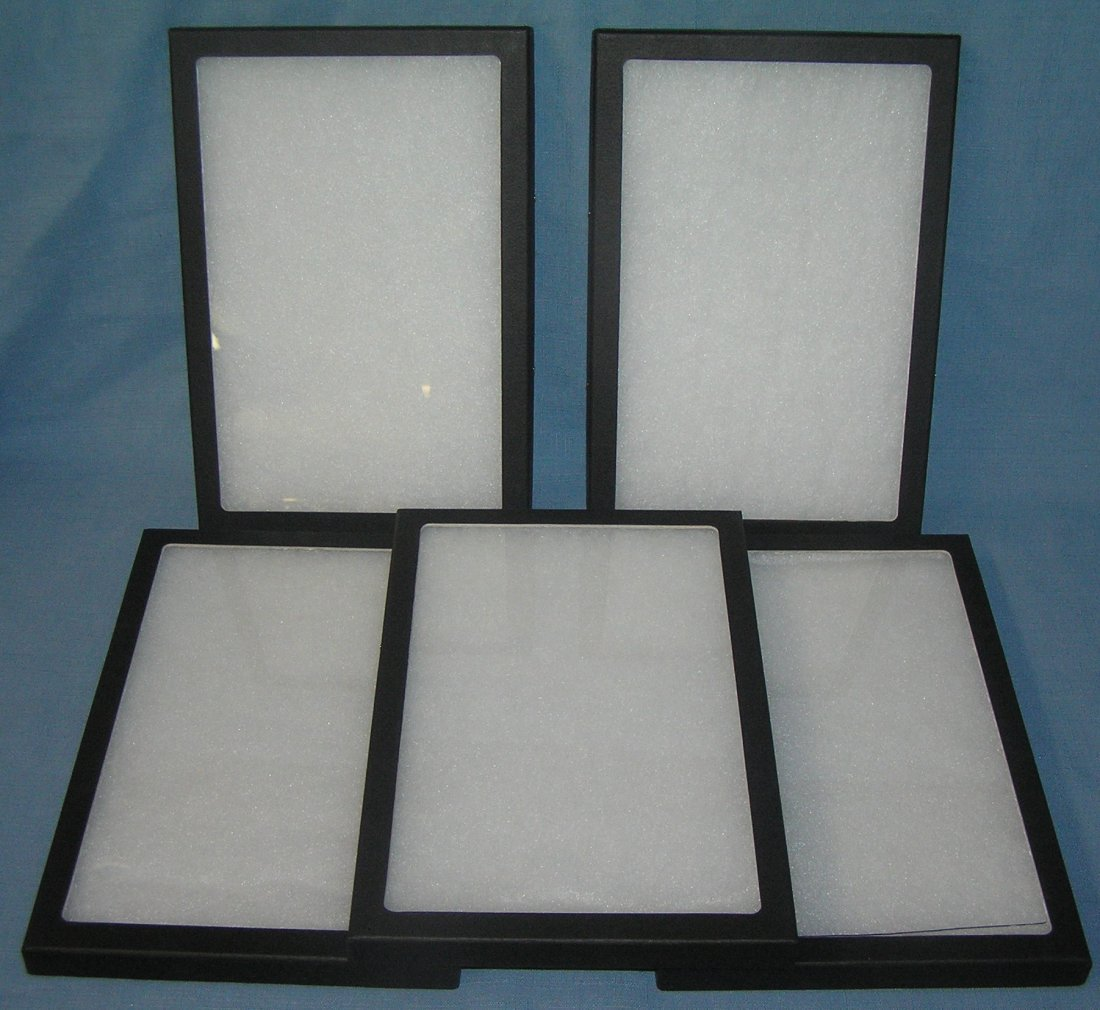Group of 5 new jewelry and collectible display cases