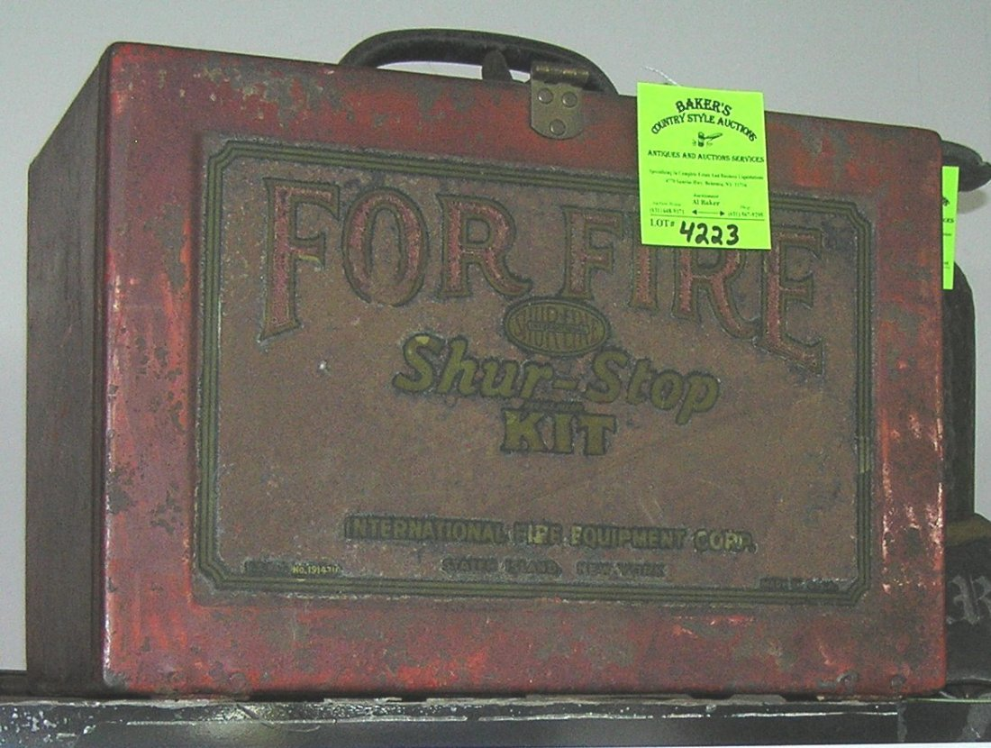 Antique fire grenade kit by Shur-Stop