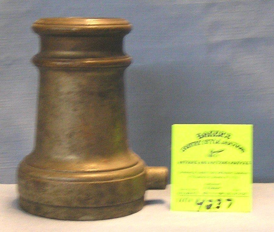Antique solid brass fire nozzle