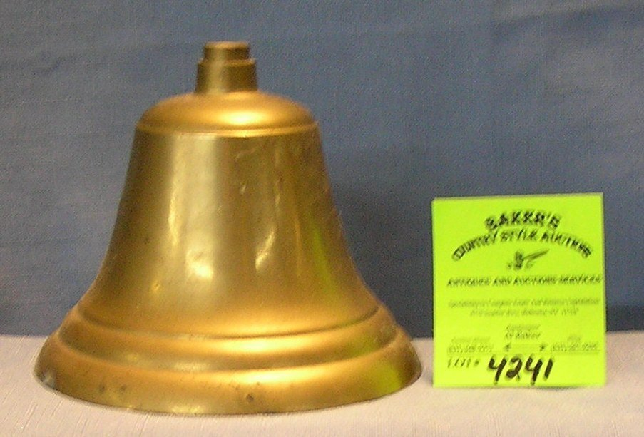 Vintage solid brass fire department bell