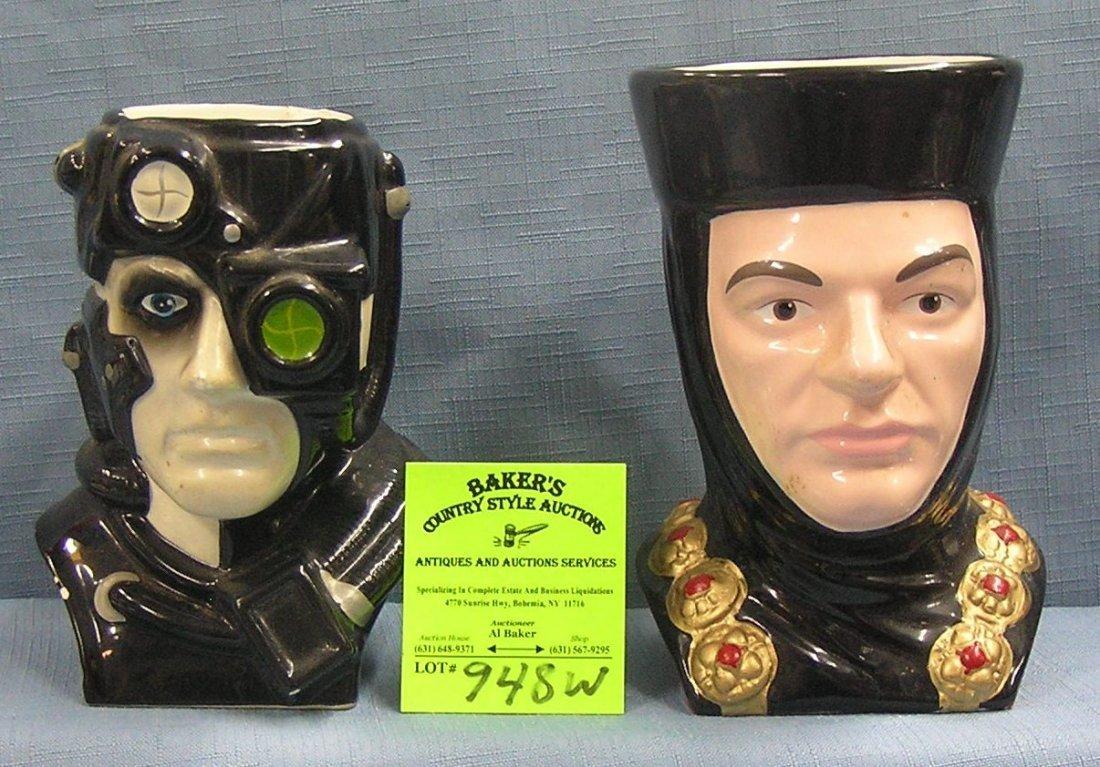 Pair of Vintage Star Trek figural mugs