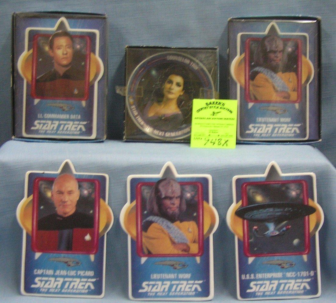 Six Vintage Star Trek porcelain collectibles