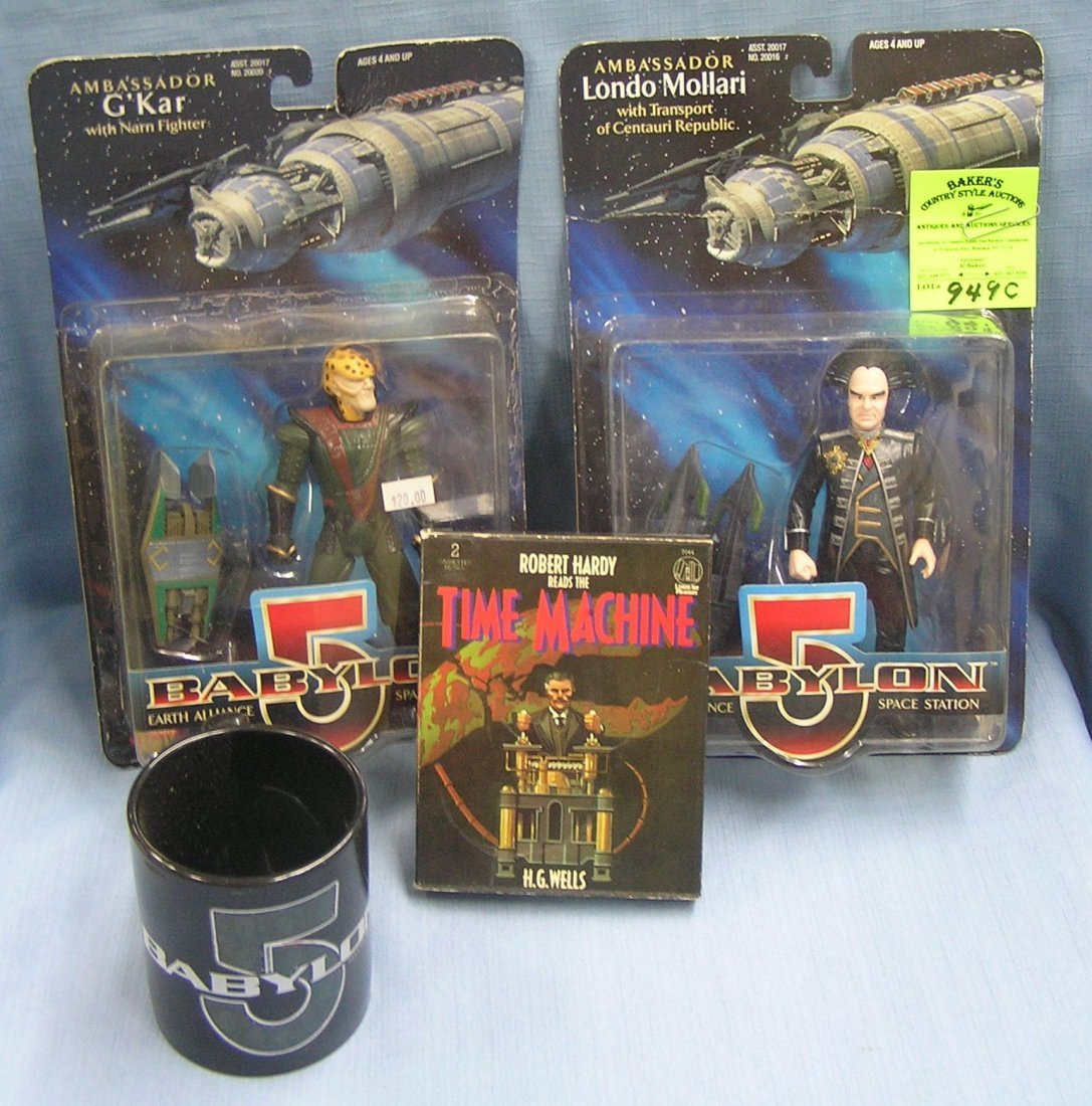 Group of space toys and collectibles