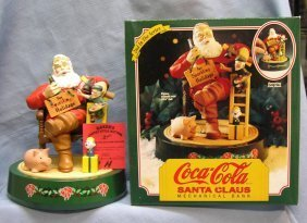 Vintage Coca Cola mechanical Santa Claus mechanical