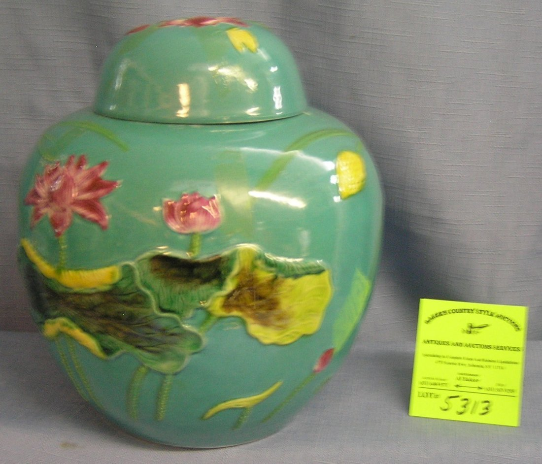 Paint decorated spice jar