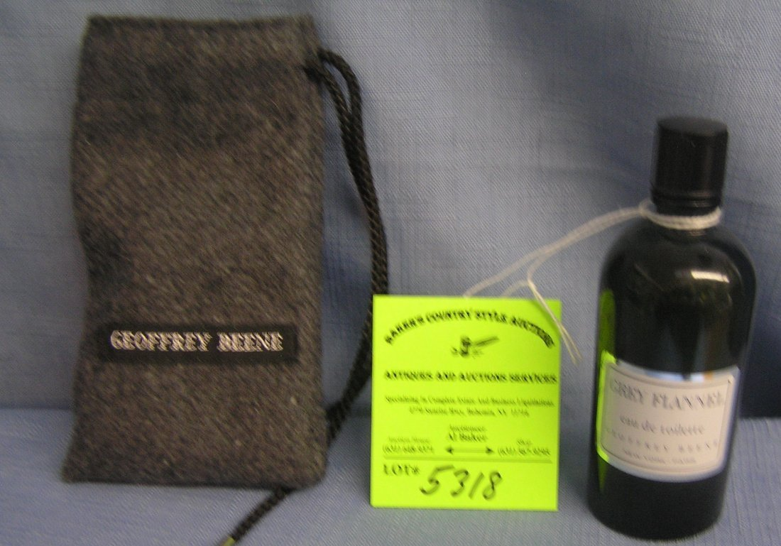 Bottle of Quality Geoffrey Bean French cologne with