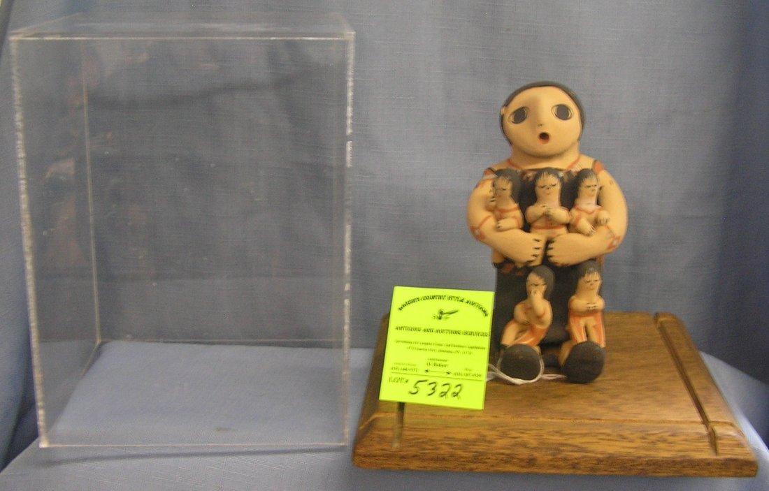 Toya Jemez artist signed handmade earthenware story