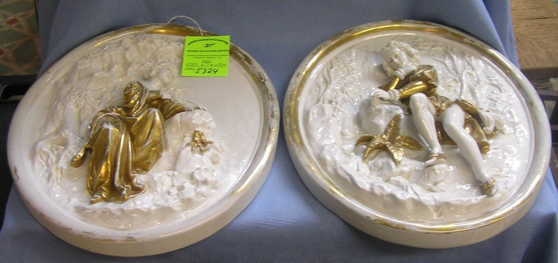 Pair of high quality heavy wall plaques