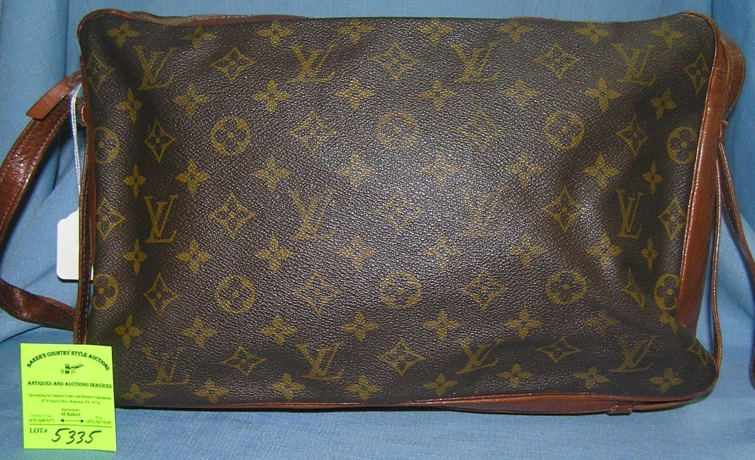 Early all leather Louis Vuitton handbag