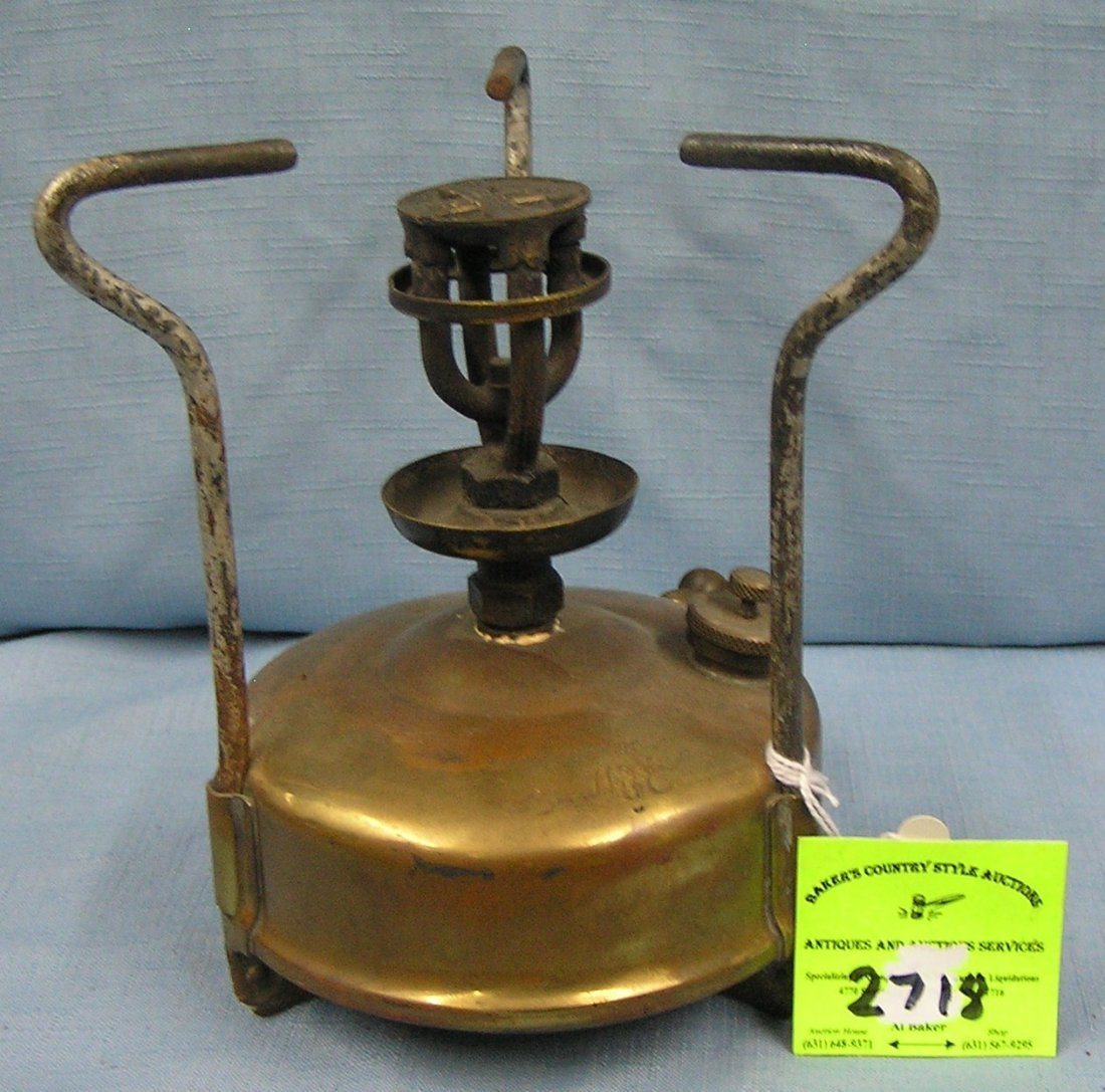 Antique brass oil stove by Optimus made in Sweden