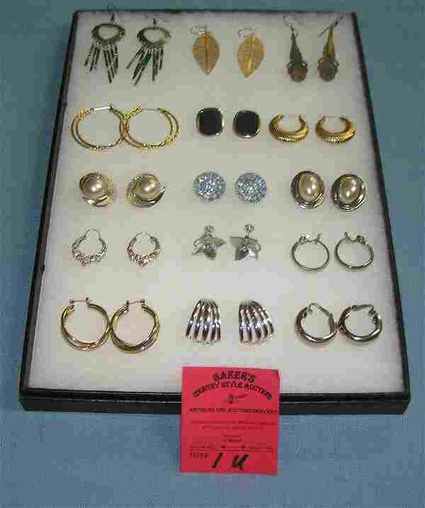Group of costume jewelry earring sets