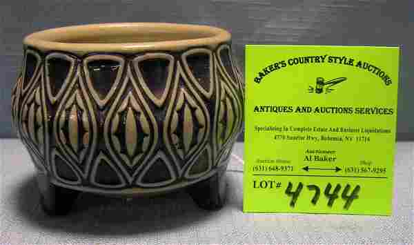 Vintage art pottery decorated bowl