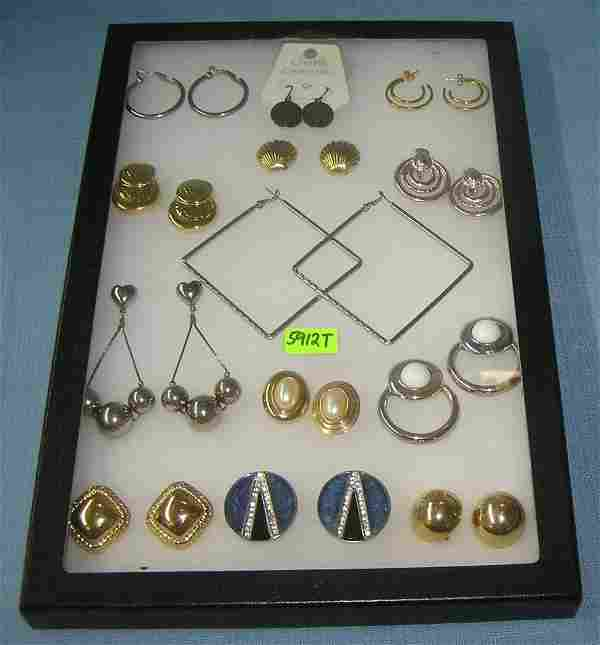 Group of vintage costume jewelry necklaces