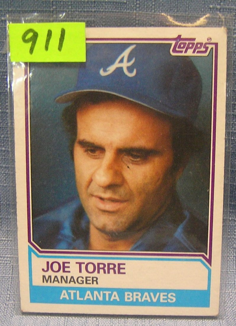 Vintage Joe Torre baseball card