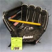 Vintage leather baseball glove by Franklin