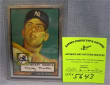 Vintage style Mickey Mantle rookie baseball card