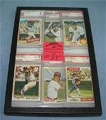 Group of vintage graded all star baseball cards