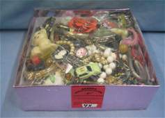 Box full of vintage toys collectibles and more