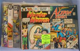 Wonder Woman, Superman, Star Trek comic books