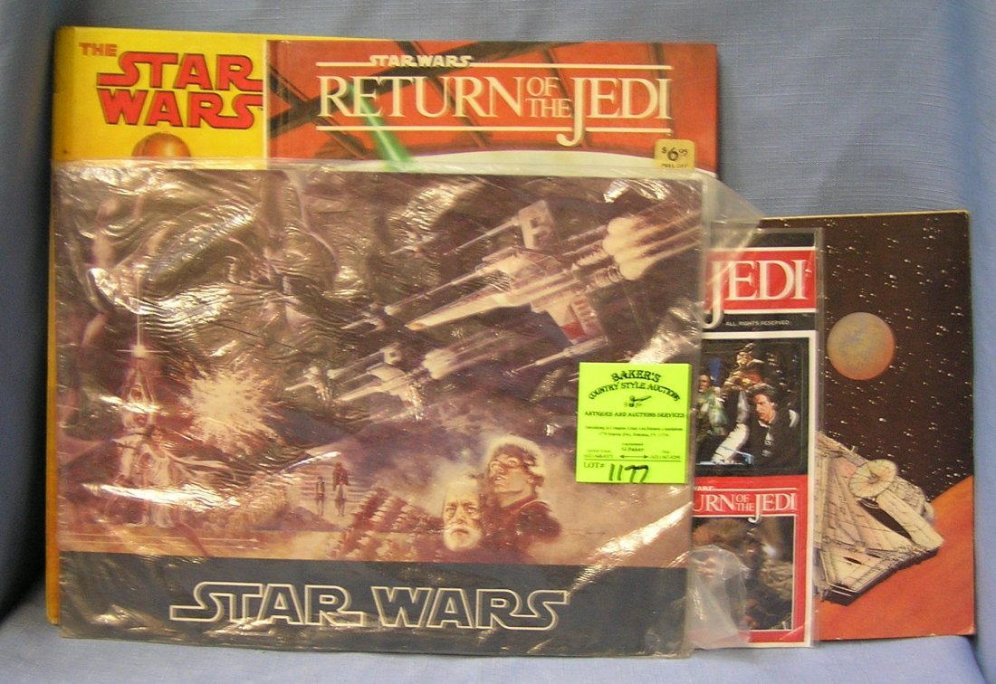 Shoe box full of vintage Star Wars collectibles