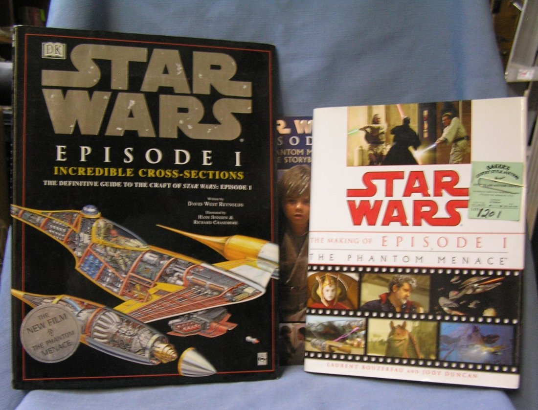 Group of three Star Wars books