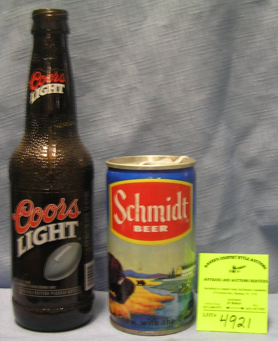 Pair of vintage beer collectibles