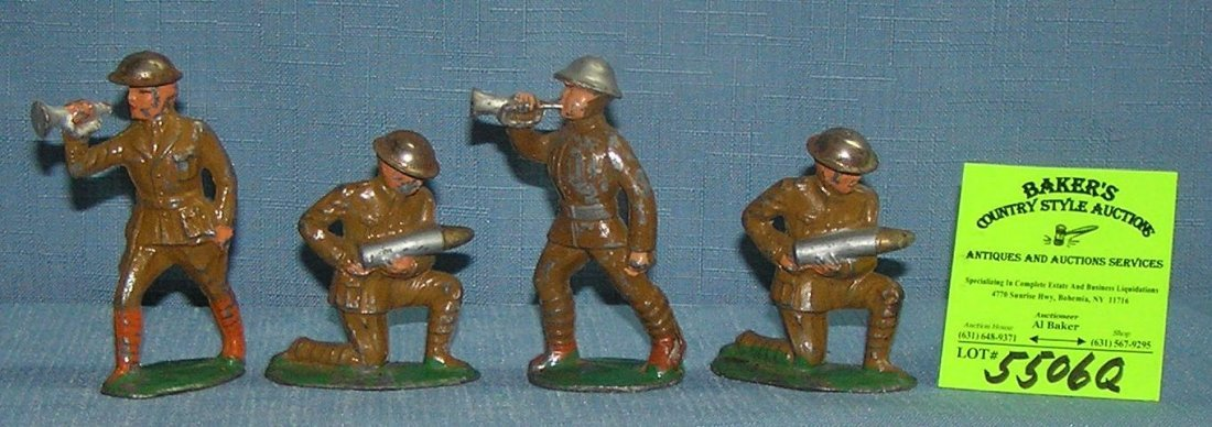 Group of antique hand painted toy soldiers