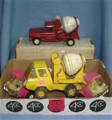 Box full of vintage Tonka toy cars and trucks