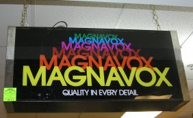 Vintage Magnavox Illuminated Box Sign