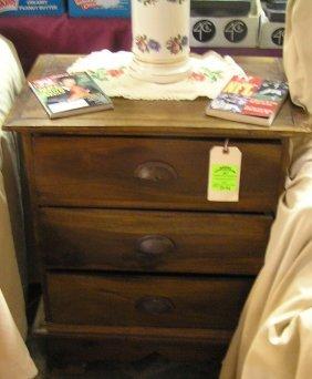 Antique Walnut Three Drawer Chest