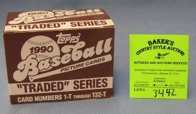 Box Of Vintage Topps Baseball Cards