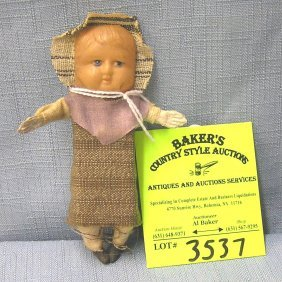 Vintage Celluloid Faced Baby Doll