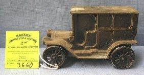 Vintage Cast Metal Cadillac Sedan Bank