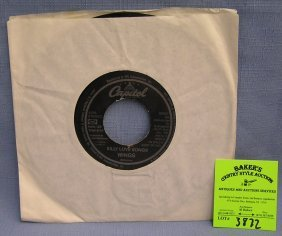 Vintage Paul Mccartney And Wings Record Album On