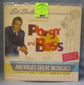 Vintage Ed Sullivan Songs And Music Porgy And Bess