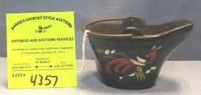 Hand Painted Cast Iron Miniature Coal Bucket